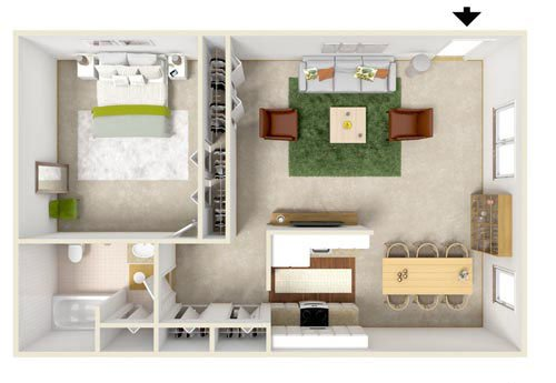 gelnora gardens one bedroom floor plan