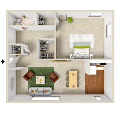 glenora gardens one bedroom floor plan 2